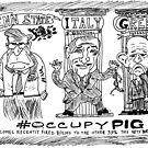 Occupy PIG editorial cartoon by bubbleicious