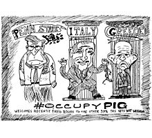 Occupy PIG editorial cartoon Photographic Print