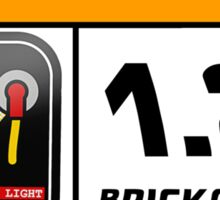 1.21 BRICKAWATTS Flux Capacitor edition Sticker