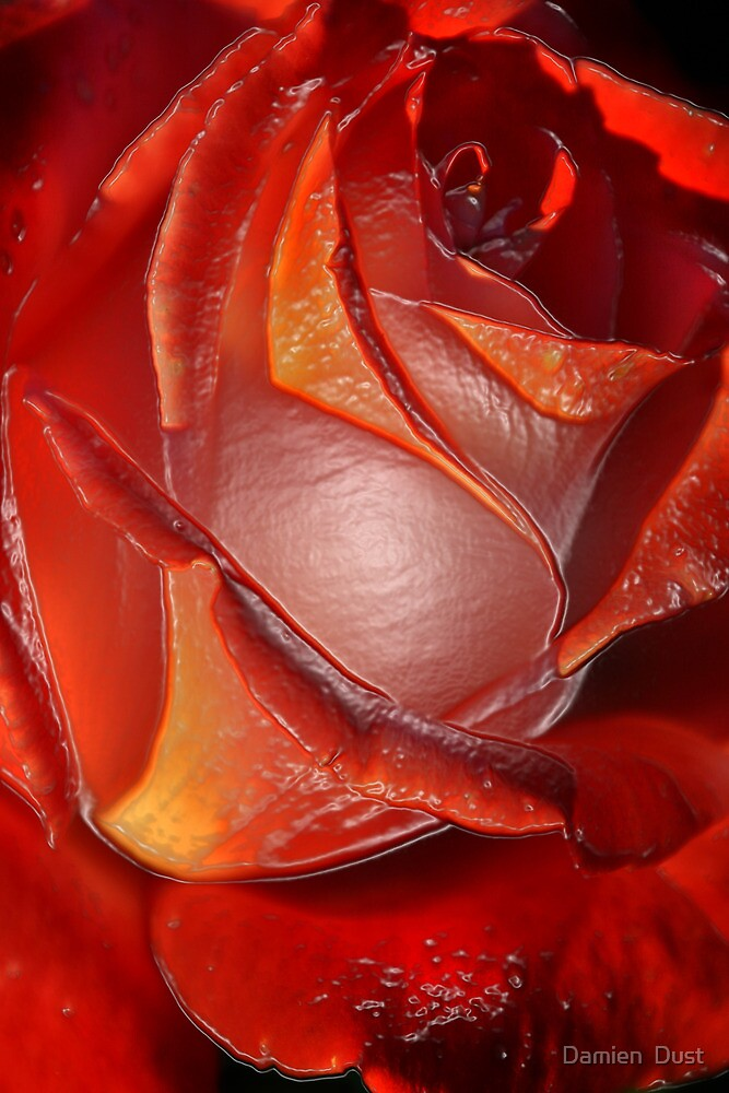 Plastic Rose by Damien  Dust