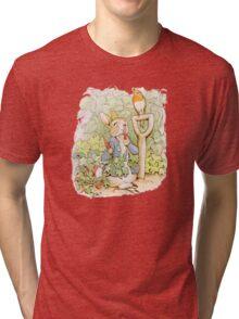 Peter Rabbit Steals Carrots Tri-blend T-Shirt