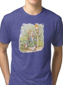Peter Rabbit Steals Carrots Tri-blend T-Shirt