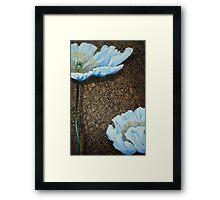 White Poppies II Framed Print