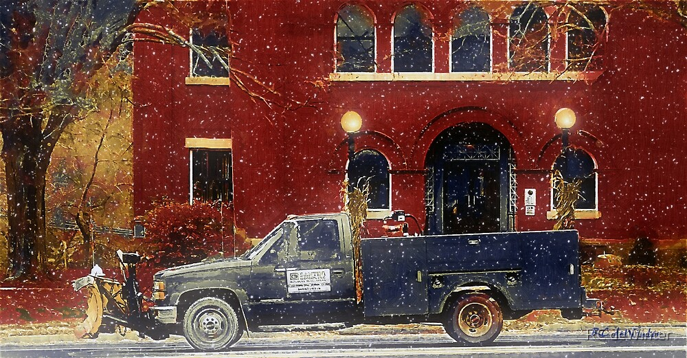 Heading Out to Plow by RC deWinter