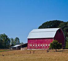 Oregon Farm Barn... by Marvin Mast