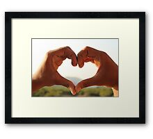 heart -love Framed Print
