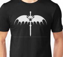 sword wing star white Unisex T-Shirt