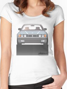 Modern Euro Icons Series Bmw E32 740i Women's Fitted Scoop T-Shirt