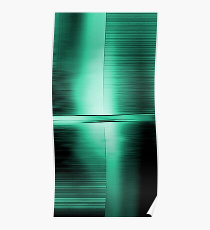 Shimmering Green Poster