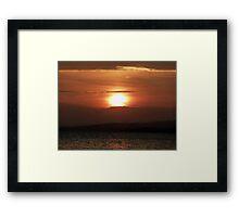 Inch Island November Sunset 2 Framed Print