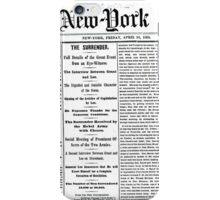 Newspaper iPhone Case/Skin