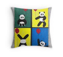 Panda Fun Throw Pillow