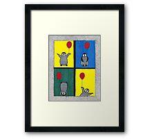 Penguin Fun Framed Print