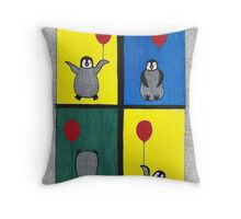 Penguin Fun Throw Pillow