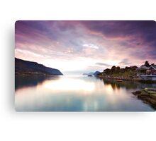 Nordic sunset Canvas Print