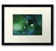 Green Pearls Framed Print
