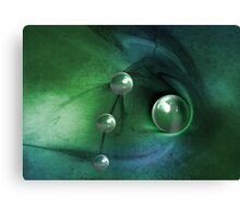 Green Pearls Canvas Print