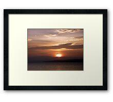 Inch Island November Sunset 3 Framed Print