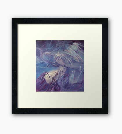 Broken wings - (Nymph3) Framed Print