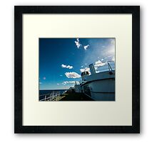 Ships funnel Framed Print
