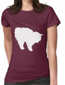 kitten  white Womens Fitted T-Shirt