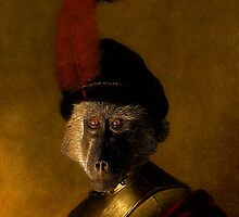 Baboon In Military Costume by SuddenJim