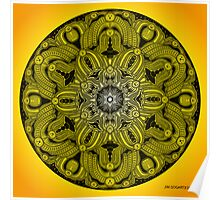 Mandala Drawing 28 YELLOW Prints, Cards & Posters Poster