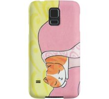 Sleeping Cat - Ginger and White Samsung Galaxy Case/Skin