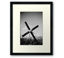 Hillside Cross Redux Framed Print