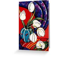 Tulips with Silk Scarf Greeting Card