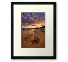 Beach - Sunset Framed Print