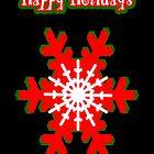 Snowflake Christmas Card by 2HivelysArt