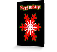 Snowflake Christmas Card Greeting Card
