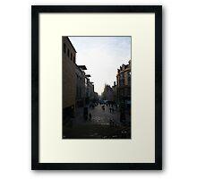 Buchanan Street, Early Morning Framed Print