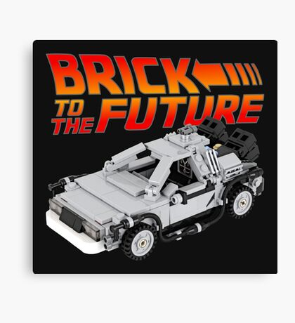 Brick To The Future Canvas Print