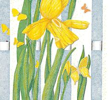 Yellow Iris by Judy Newcomb