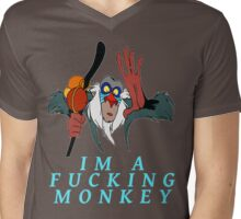 Im a fucking monkey Mens V-Neck T-Shirt