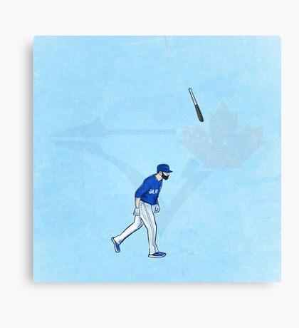 Jose Bat Flip. Canvas Print