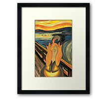 The Screech Framed Print