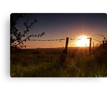 The silence before night Canvas Print