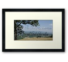 art work with saying beautiful photography Framed Print