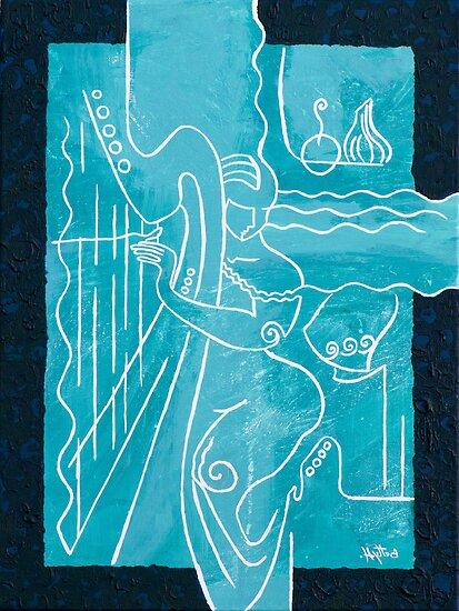 The Harp Player by Elisabeta Hermann