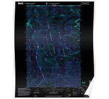 USGS Topo Map Washington State WA Skagit Peak 243738 2002 24000 Inverted Poster