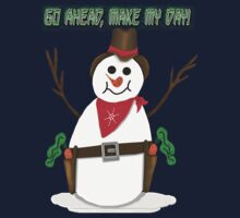 Cowboy Snowman One Piece - Short Sleeve