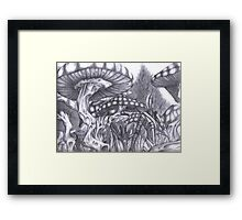 Forest of the moon Hades Framed Print