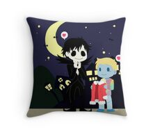The nightmare before Sherlock Throw Pillow