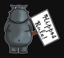 Hippos Rule Kids Tee