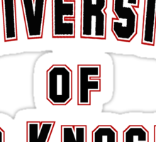 University of Hard Knockers Sticker