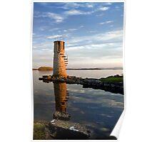 Ballycurrin Lighthouse Headford Galway Ireland. Poster