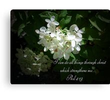flower,scripture Canvas Print